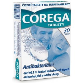 Corega Antibakteriální tablety 30 ks