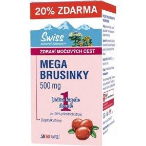 Swiss Mega Brusinky 500 mg 60 kapslí