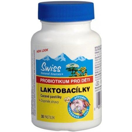 Swiss Laktobacílky dětské třešňové pastilky 30 tablet