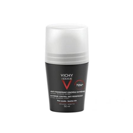 VICHY Homme Deo roll on 72 hodin pro extrémní kontrolu 50 ml