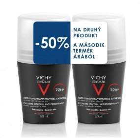 VICHY Deodorant DUO balení Homme Deo roll-on 2x50ml