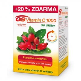 GS Vitamin C 1000 se šípky 100+20 tablet