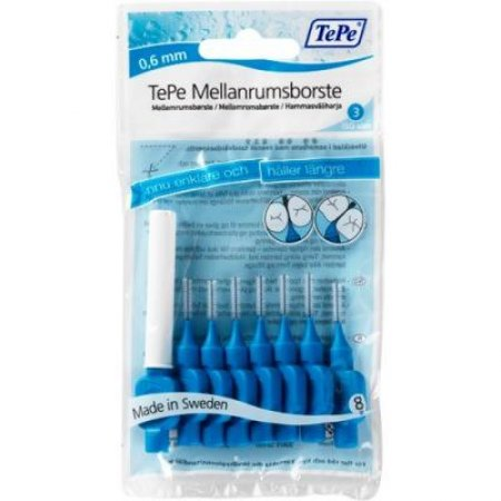 TePe mezizubní kartáčky modré 0,6 mm 8ks