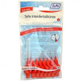 TEPE mezizubní kartáčky červené 0,5 mm 8ks