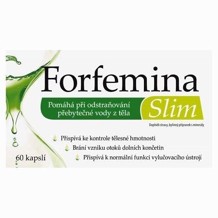 Forfemina Slim - na odvodnění těla a při hubnutí - 60 cps
