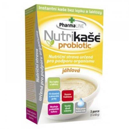 PHARMALINE Nutrikaše probiotic jáhlová 180 g (3x60 g)