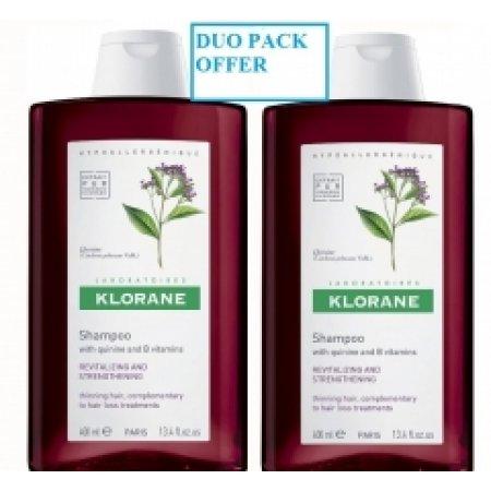 KlORANE šampon Chinín 400 ml + 400 ml DUOPACK
