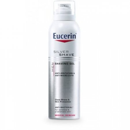 Eucerin MEN SILVER SHAVE Gel na holení 150 ml