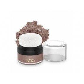 Inika Organic Mineral Blusher Puff Pot - Rosy Glow - minerální tvářenka s aplikátorem 3 g