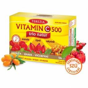 TRIO NATUR vitamin C 60 kapslí